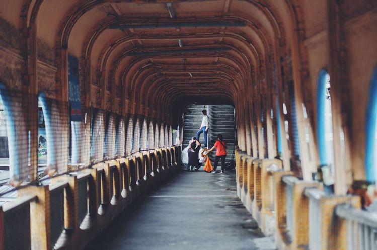 基隆中山陸橋拆除時間確定了,再次吸引大批遊客拍照留念。圖/IG網友michael...