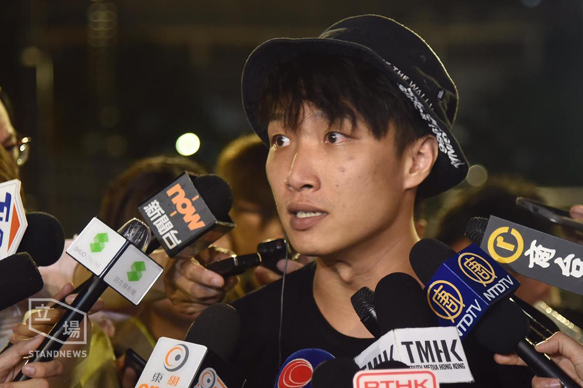 民陣召集人岑子杰表示已申請831再遊行。取自立場新聞