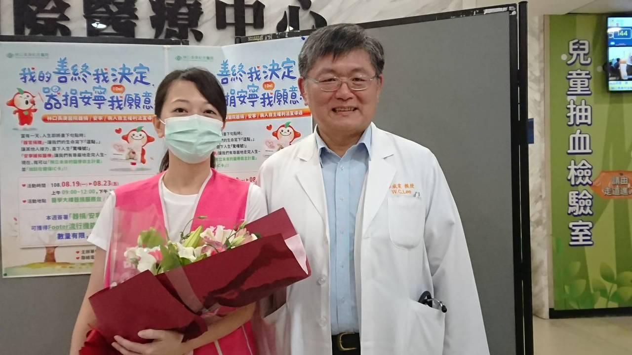 34歲牟小姐懷孕三個月時因B型肝炎急性爆發,肝臟衰竭,接受肝臟移植手術,成為全國...