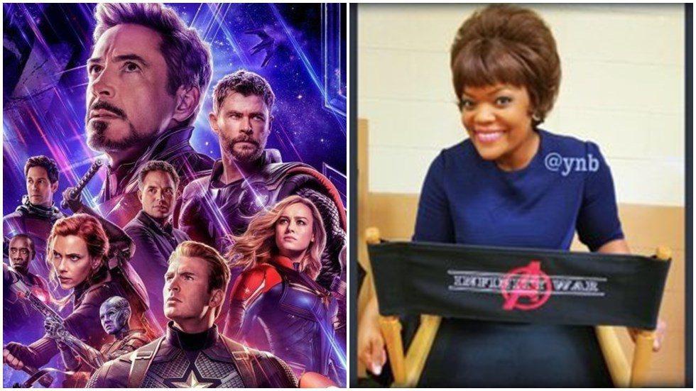 女星Yvette Nicole Brown約朋友到電影院看「復仇者聯盟:終局之戰