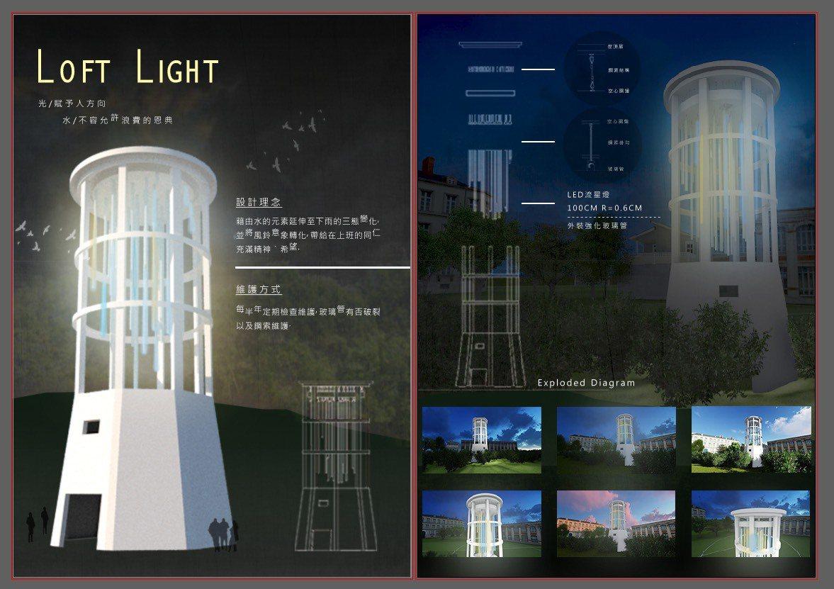 第三名作品《Loft Light》。圖/崑大提供
