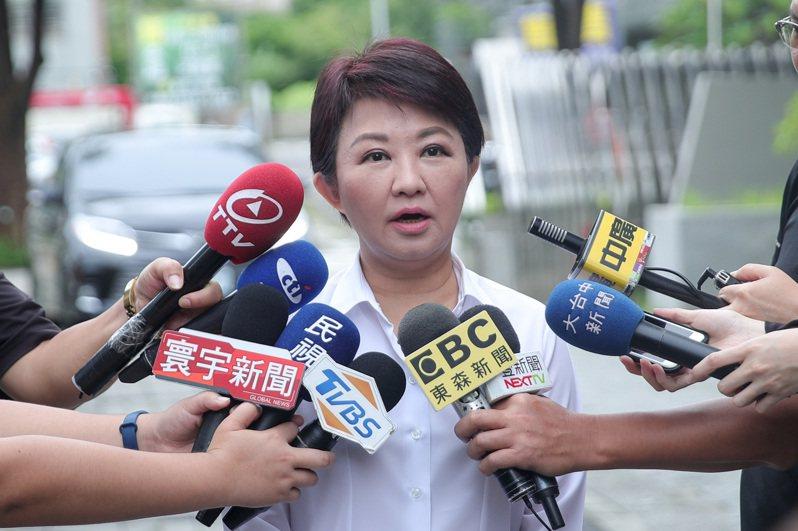 台中市長盧秀燕今早說,站在黨員立場她會幫忙韓國瑜,但要不要當總部主委?還要再商量,以市政優先。圖/台中市新聞局提供