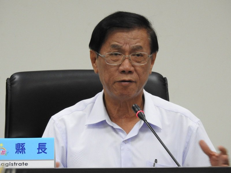 林明溱今在縣務會議後接受媒體聯訪時表示,以後有關總統選舉的事一概不表示意見。記者賴香珊/攝影