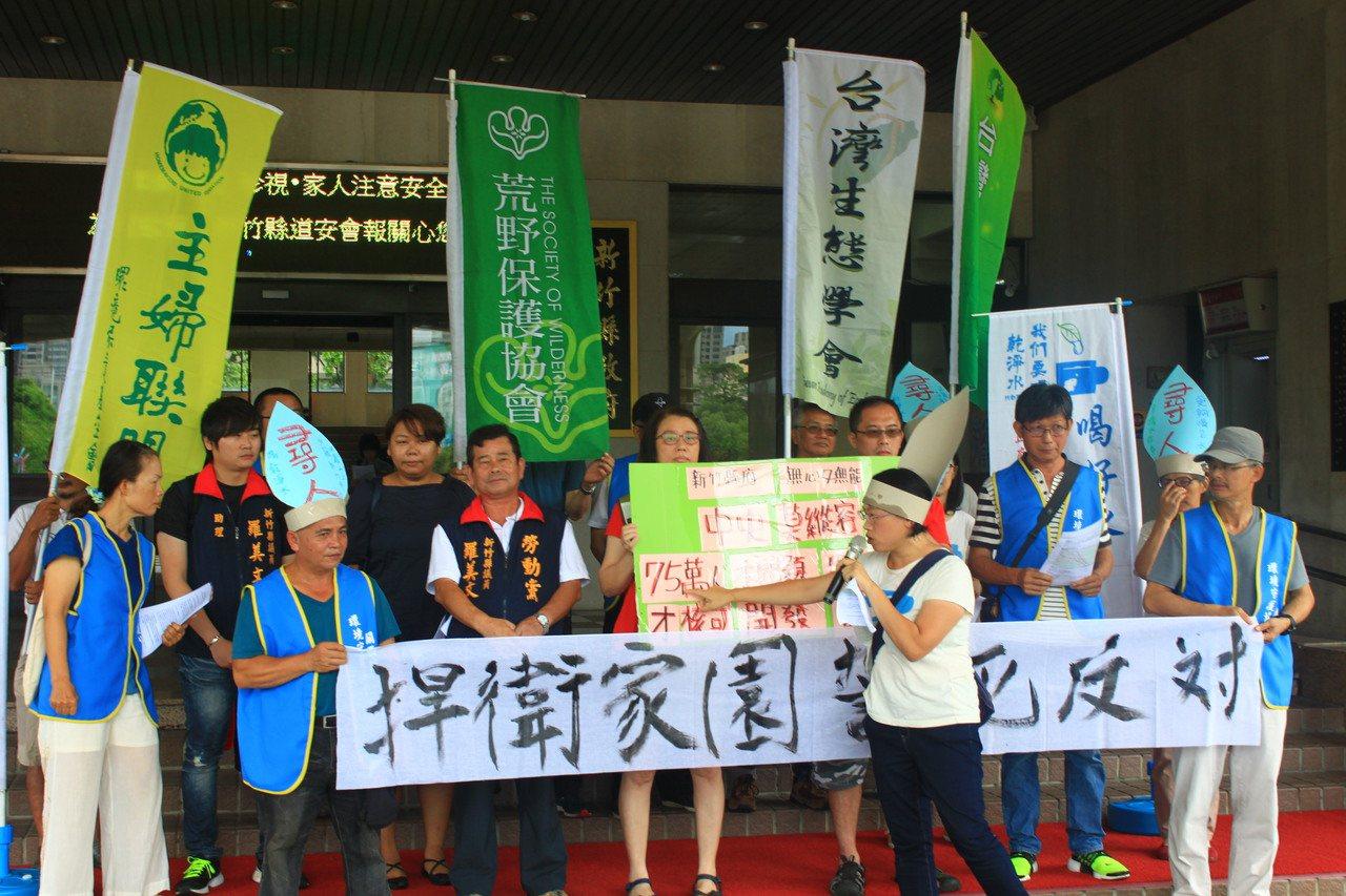 聯盟並再次呼籲新竹縣長楊文科,「不要忘記自己選前對選民的承諾。」記者郭政芬/攝影