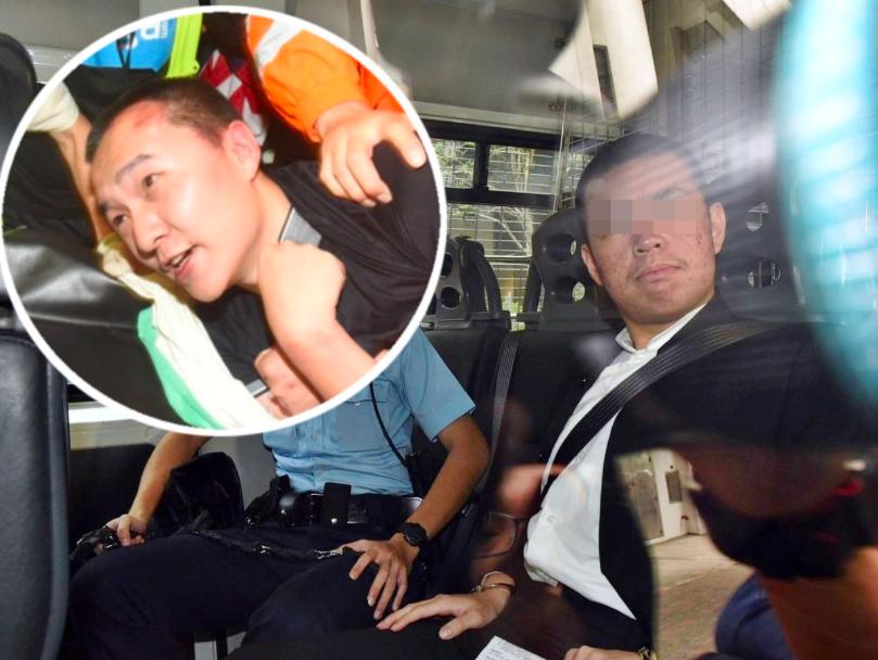 被告賴雲龍(右)、環球時報記者付國豪(小圖)。(星島網)