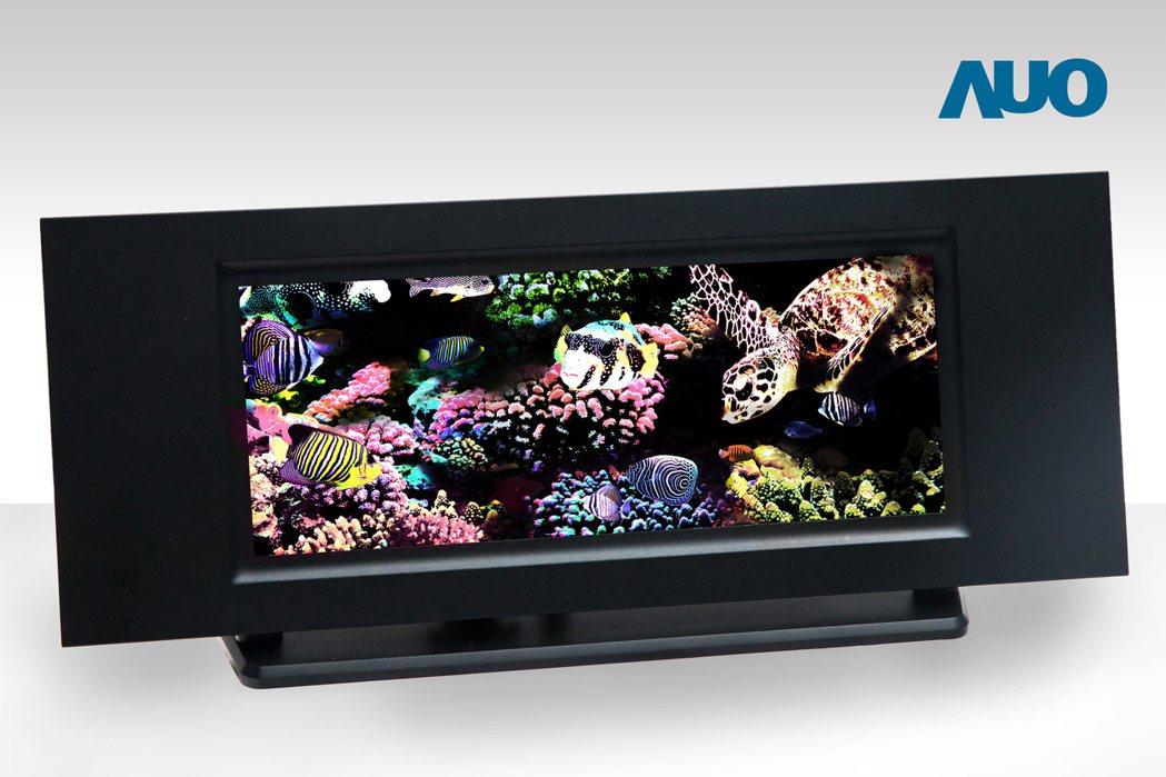 友達12.1吋全彩主動式Micro LED顯示技術。圖/友達提供