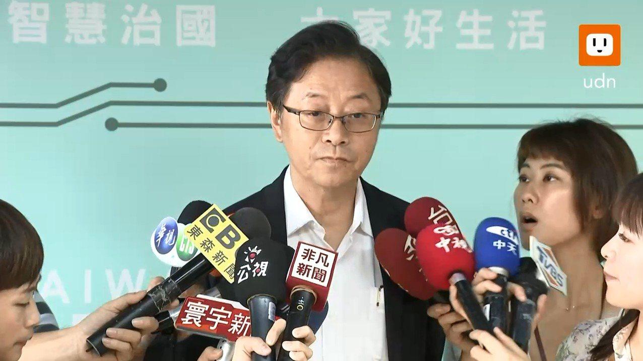前行政院長張善政今天表示已與郭台銘聯繫。記者陳聖文、莊昭文/攝影