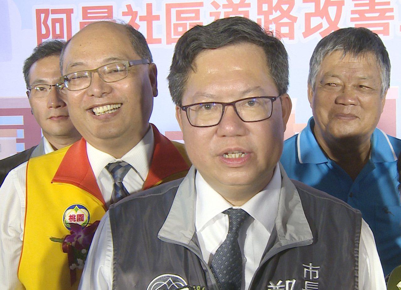 桃園市長鄭文燦(見圖)批當行政首長,韓國瑜是菜鳥。記者曾增勳/攝影