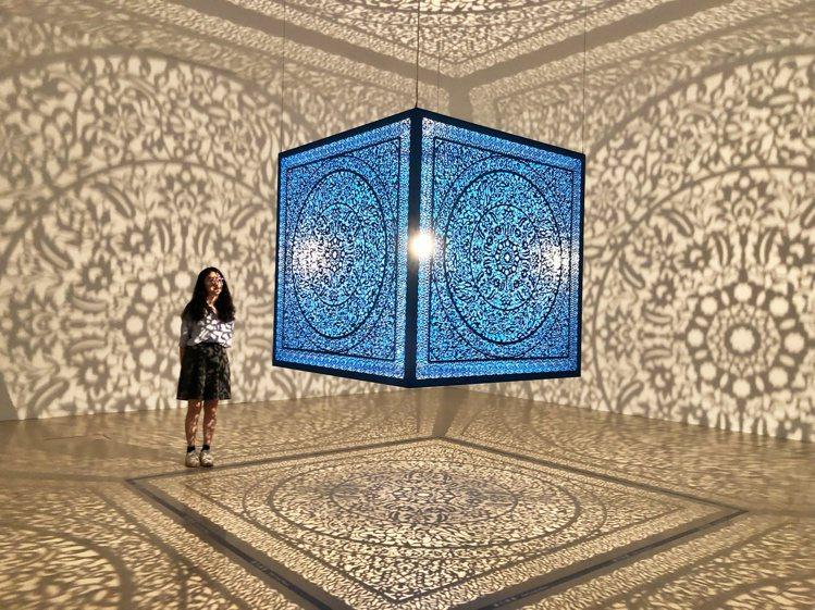 奇美博物館展出的「有影無影?影子魔幻展」相當適合拍照打卡。記者魏妤庭/攝影