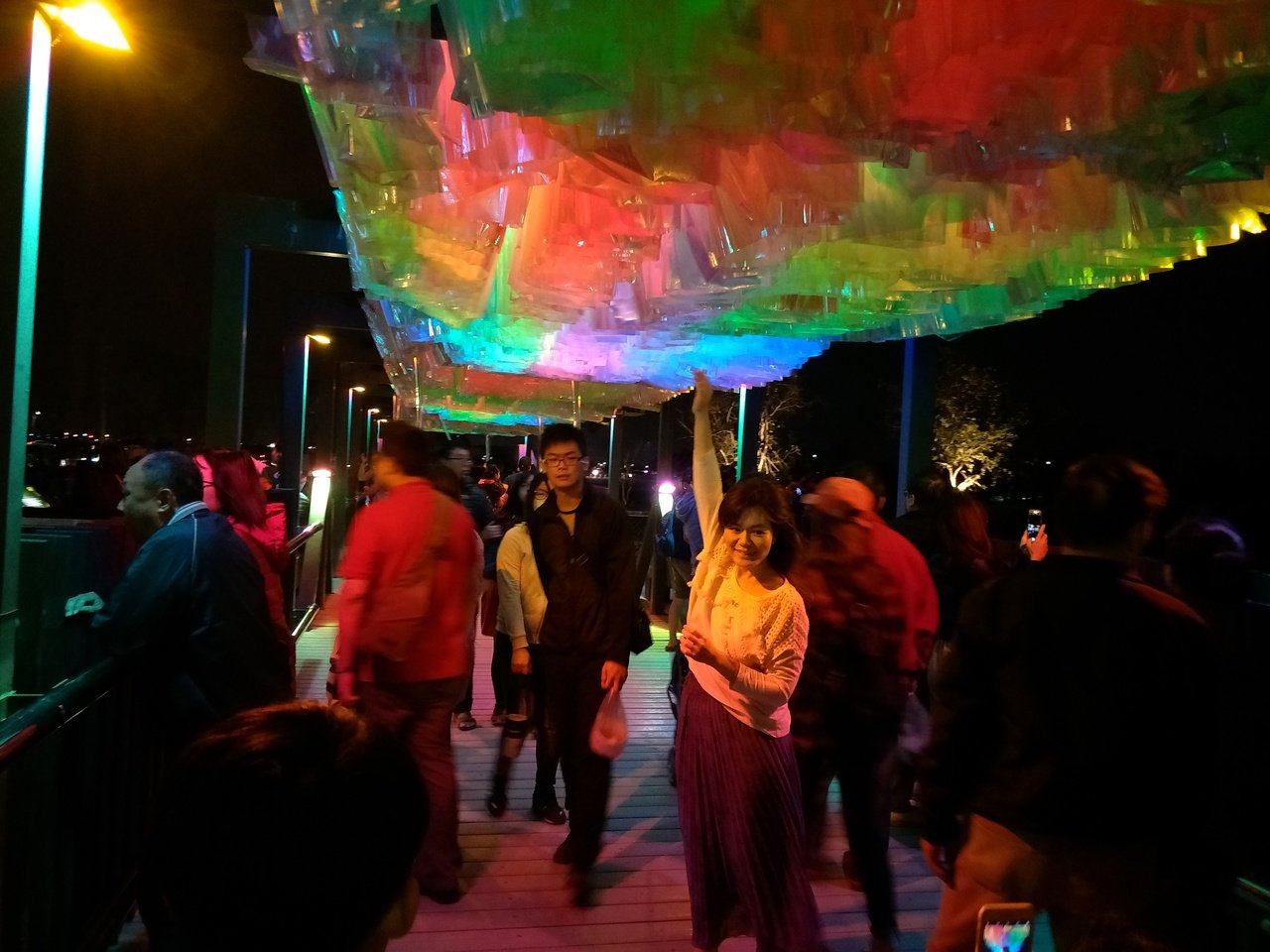 「新營鹽水雙星拱月」 再獲內政部營建署補助加碼8000萬元,圖為今年月津港燈節美...