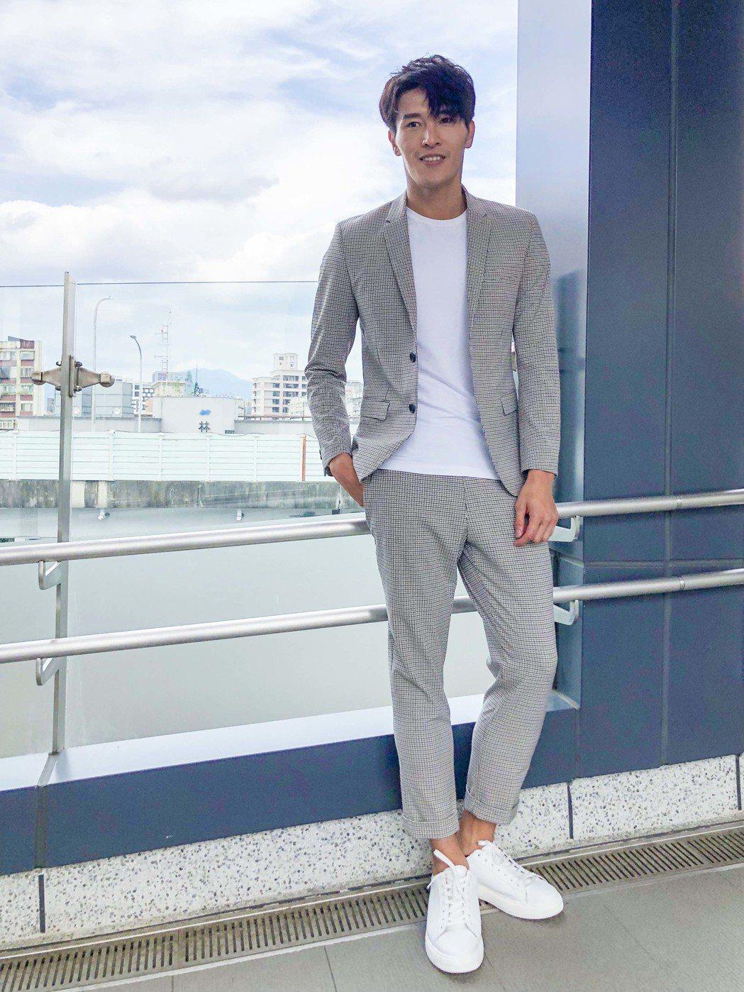 陳禕倫擁有俊俏外表,模特兒出身的他,對於身材管理律己甚嚴。圖/凱渥提供