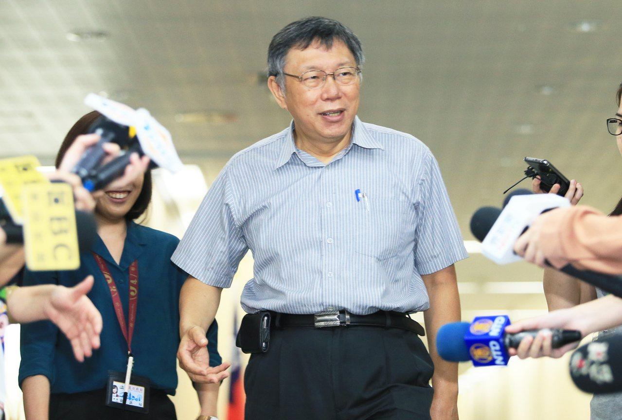 台北市長柯文哲。 記者潘俊宏/攝影