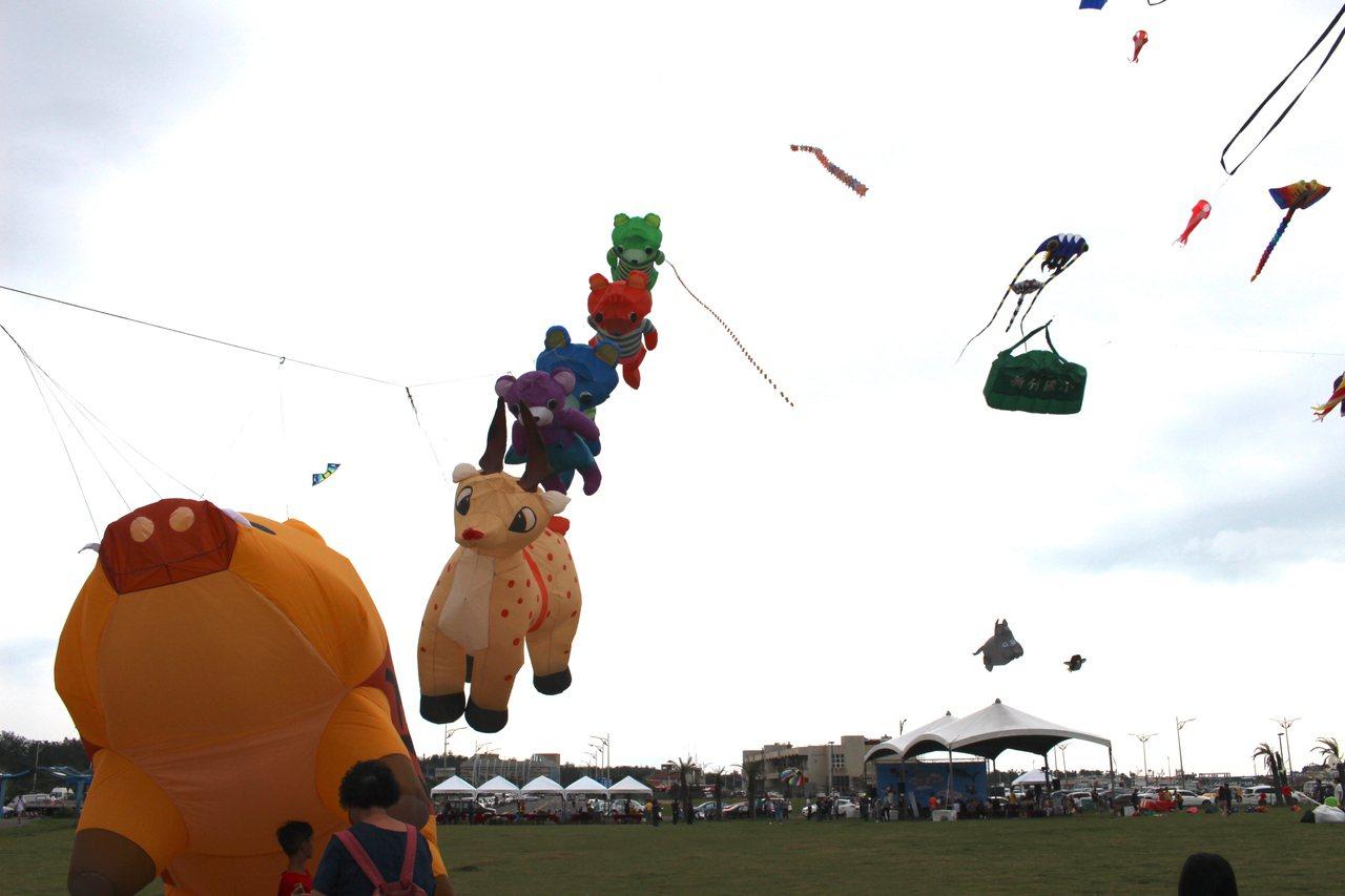 2019新竹市國際風箏節,今年以動物為主題,打造空中動物園。 記者張雅婷/攝影