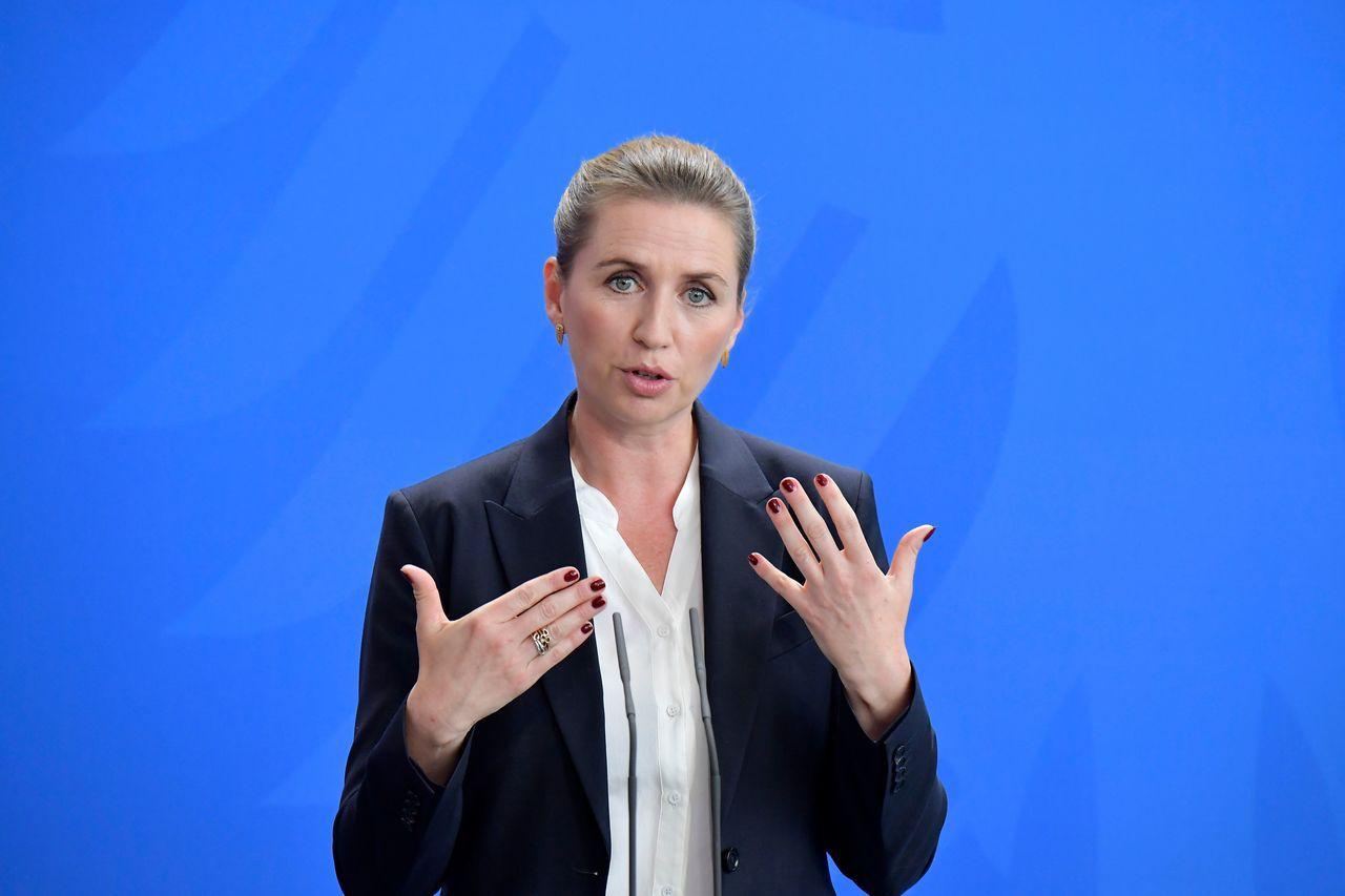 丹麥總理佛瑞德里克森。(法新社)