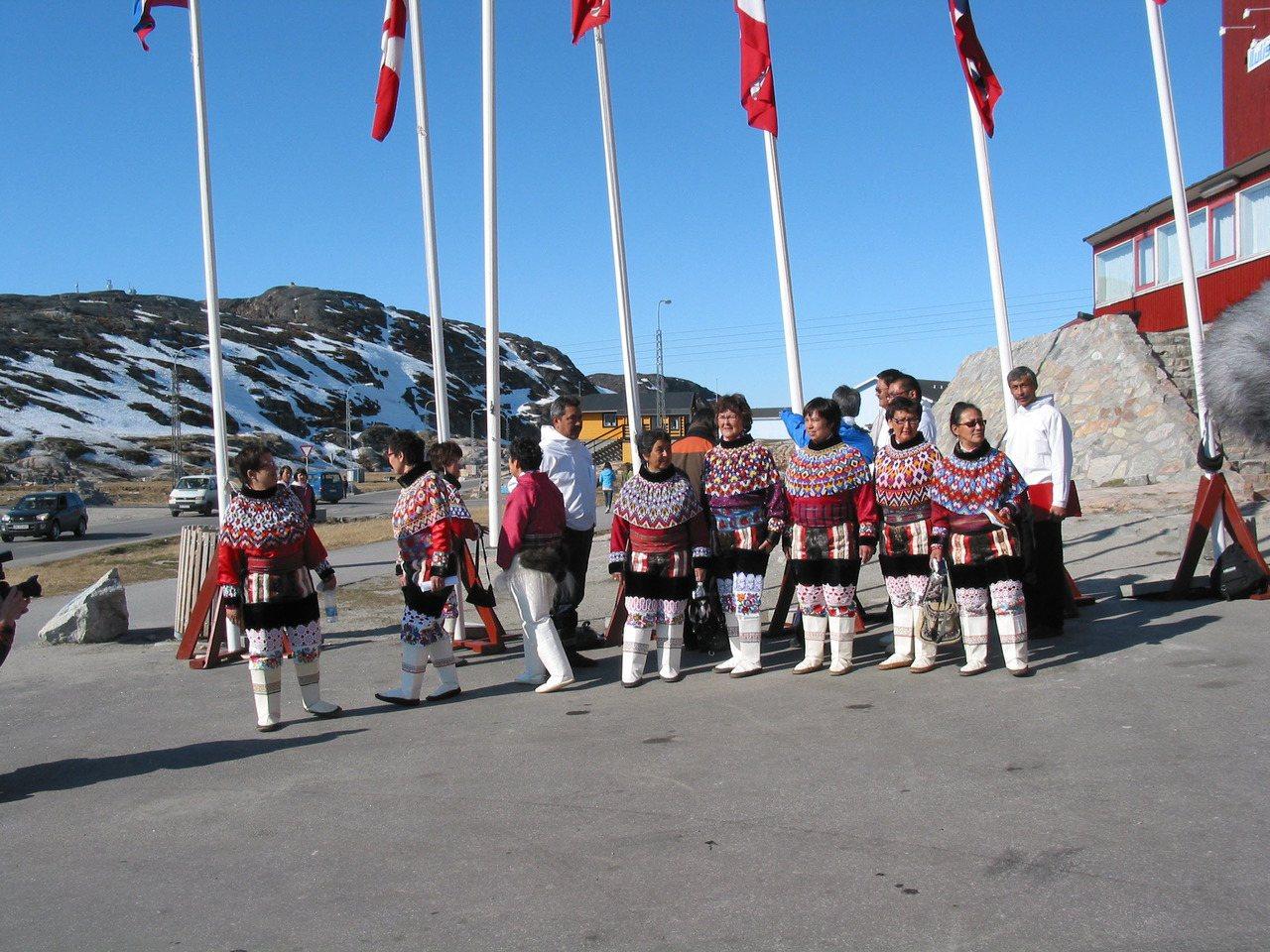 格陵蘭原住民伊努特人。(法新社)