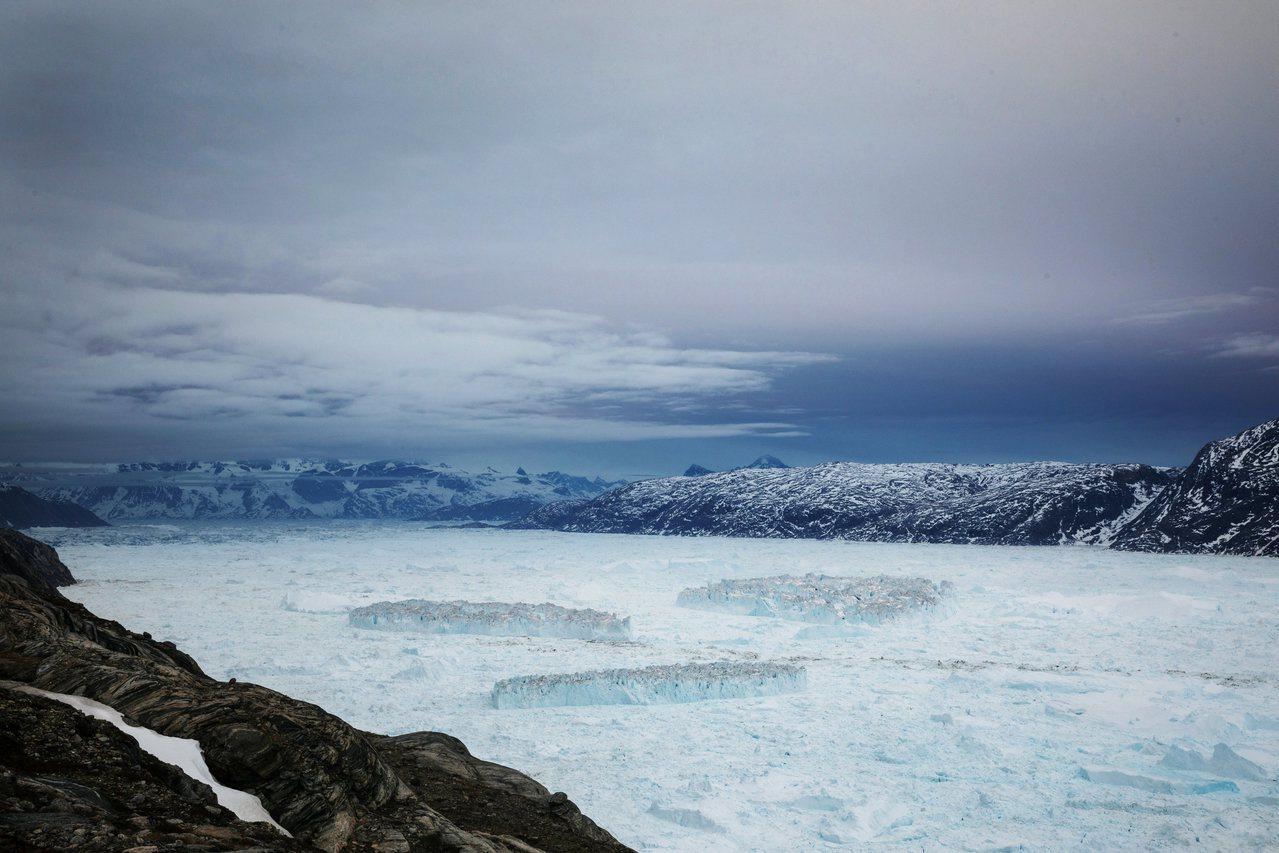 格陵蘭有8成面積被冰層覆蓋。(路透)