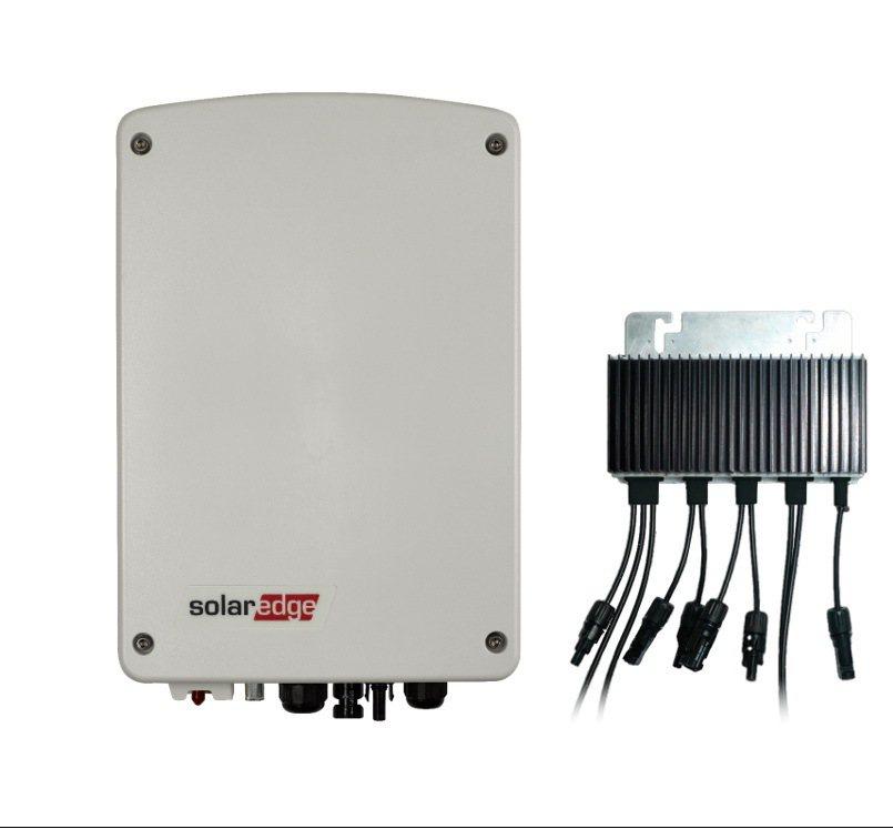SolarEdge Compact技術單相變流器和M2640功率優化器。Sola...