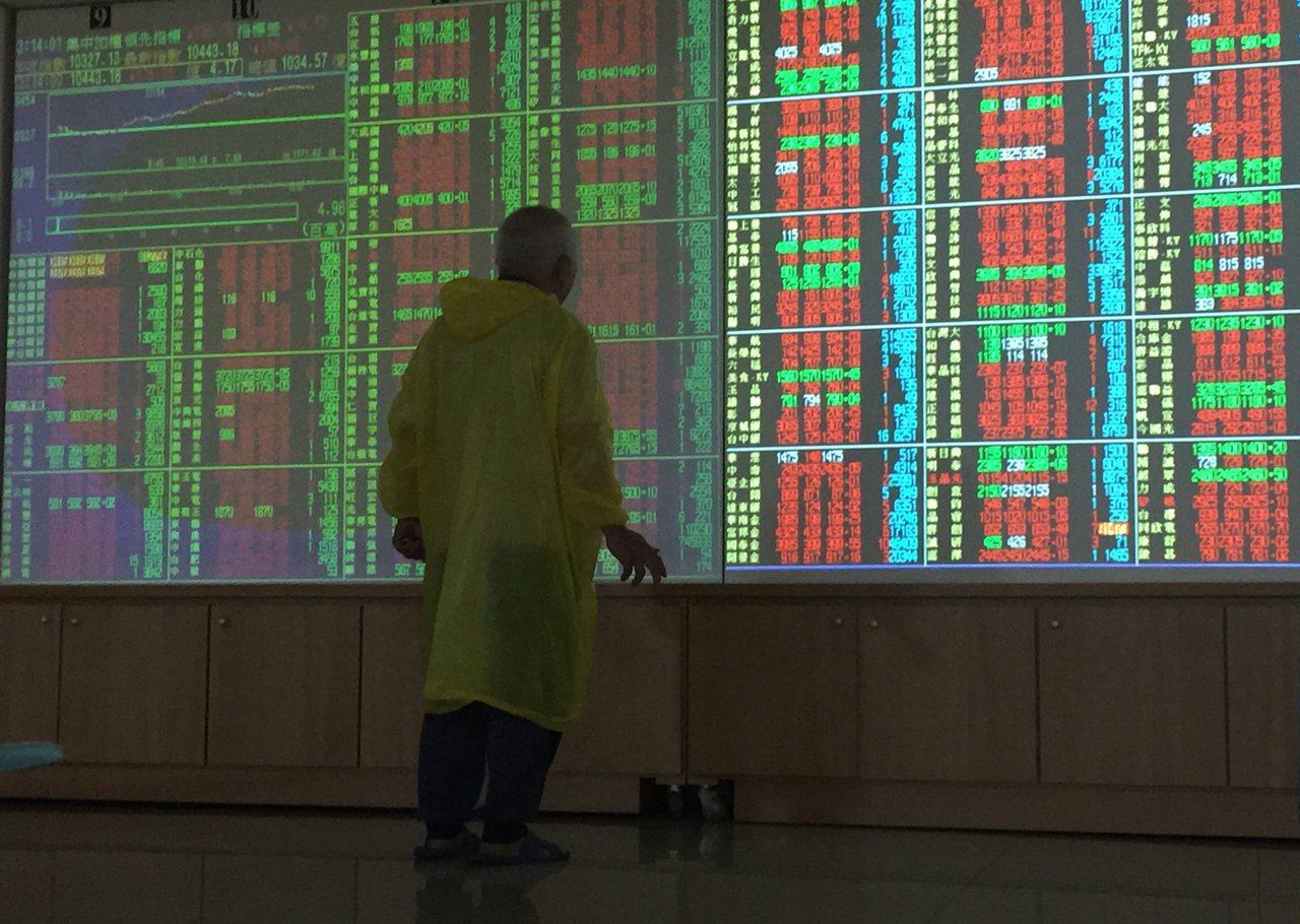 台股今日開高震盪走高。 中央社資料照