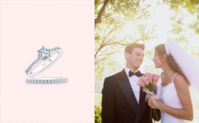 AMC鑽石指出,0.3克拉的鑽戒是最多人選擇的入門款。 AMC鑽石婚戒/提供