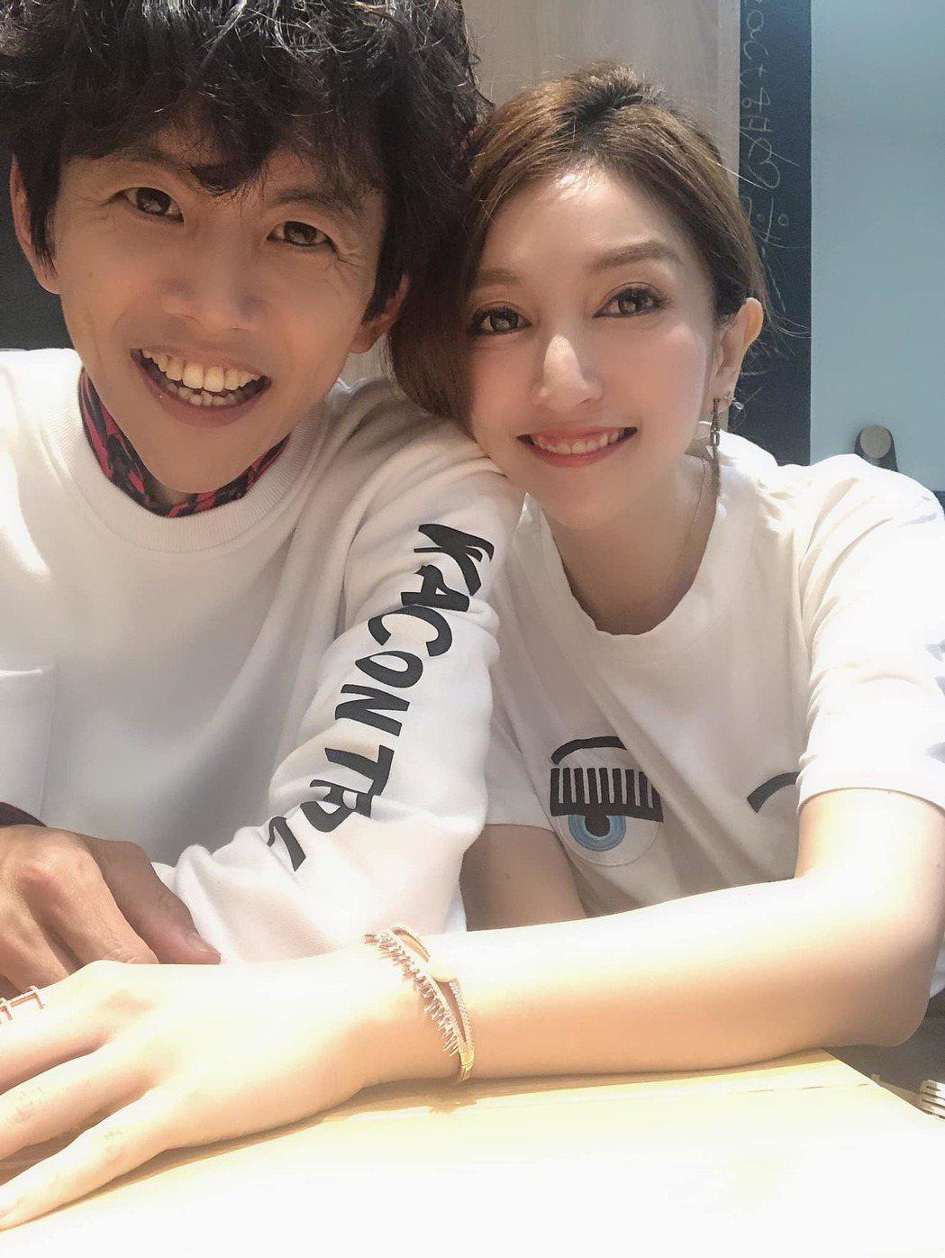阿翔與老婆Geace。 圖/擷自Grace臉書