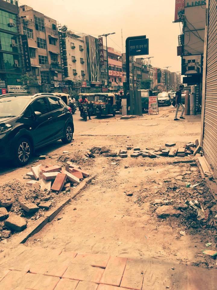 謝忻拍下印度街頭的照片。 圖/擷自謝忻臉書