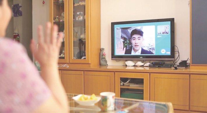 電視是家家戶戶現有的設備,比起平板電腦應更適合推動銀髮服務。 圖/瑪帛科技提供