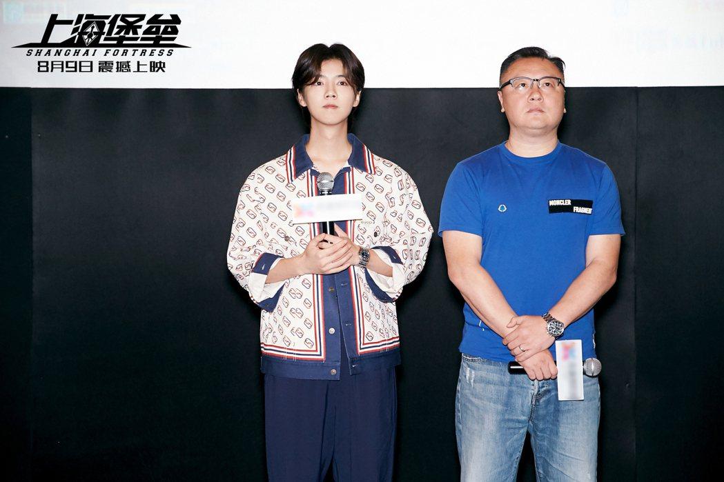 鹿晗與導演滕華濤。圖/擷自微博