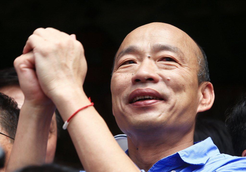 高雄市長韓國瑜自爆車子被裝了追蹤器。 聯合報系資料照片/記者陳正興攝影