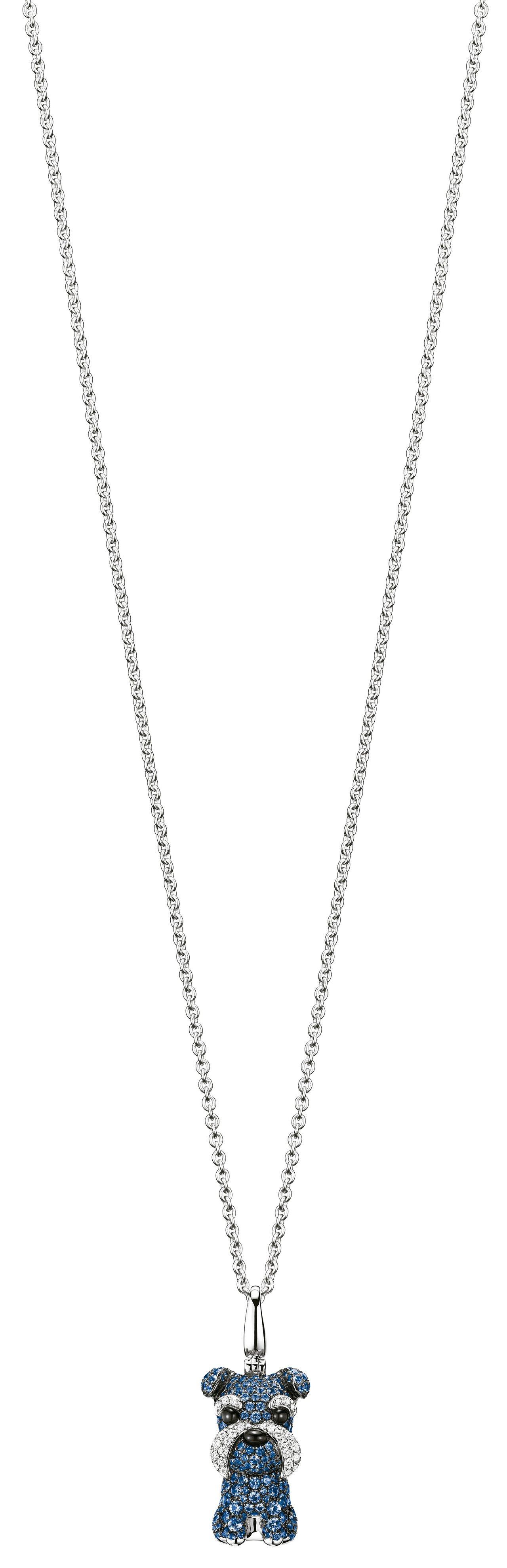 Qeelin Wang Wang雪納瑞造型18K白金、鑽石與藍寶石吊墜,31萬3...