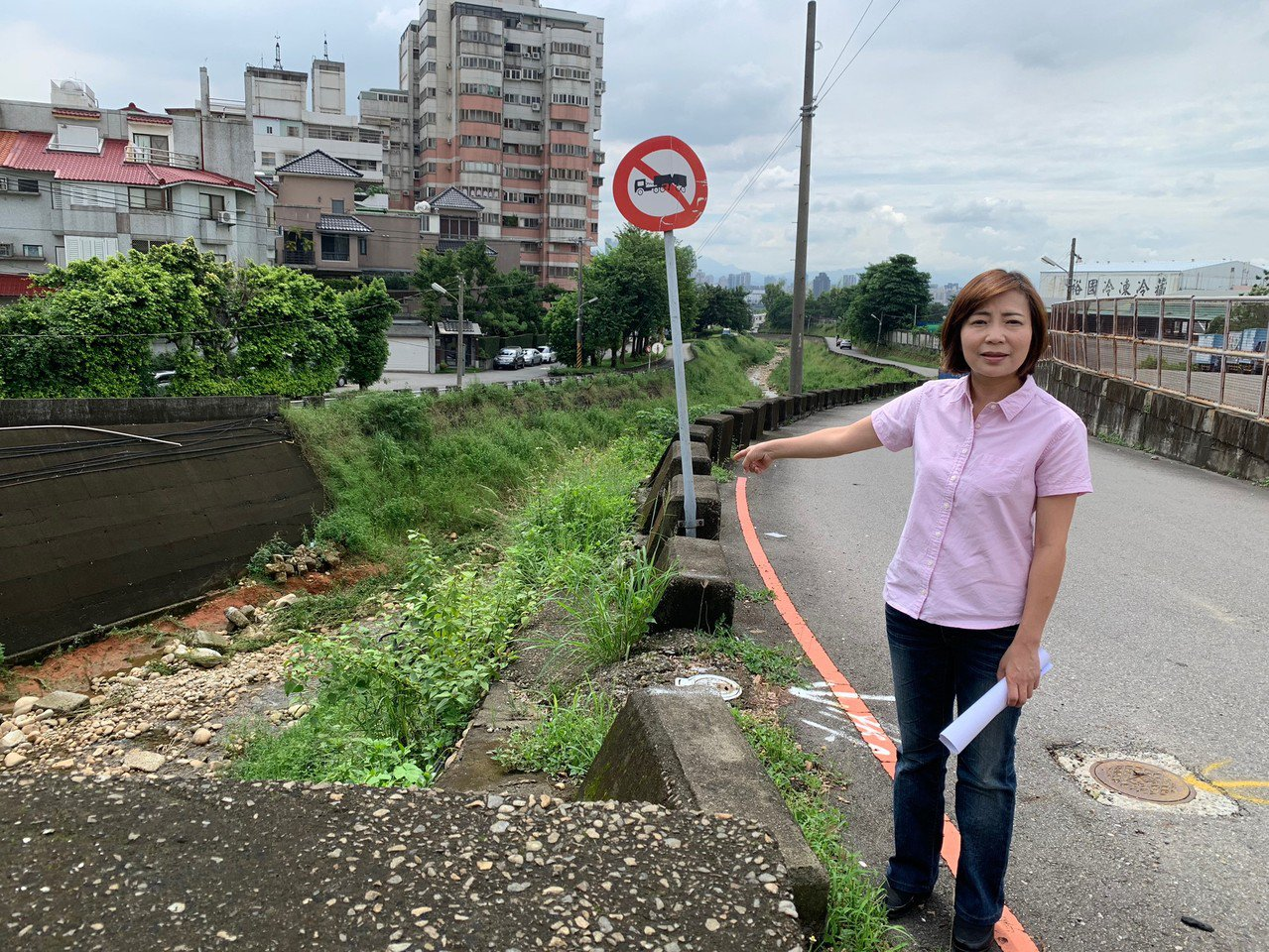 台中市政路延伸,第一階段從工業一路沿東大坑溪到安和路。圖/陳淑華提供