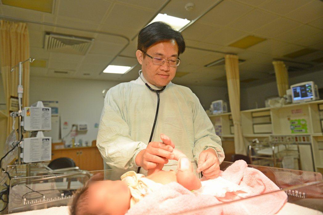 陳克琦表示,多數無肛症患者在出生後才發現。圖/台北慈濟醫院提供