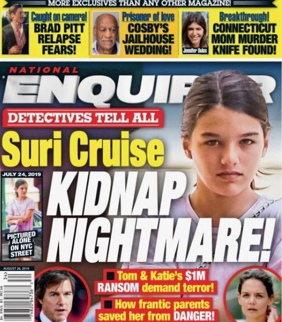 蘇蕊被八卦刊物爆出恐成歹徒勒贖的目標,爸媽必須要非常小心。圖/摘自Nationa