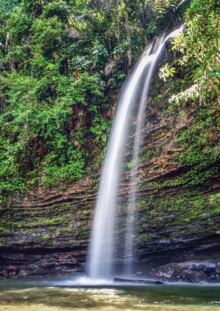 本那瓦瀑布生態公園的Batu Meregab瀑布。圖/馬來西亞觀光局提供
