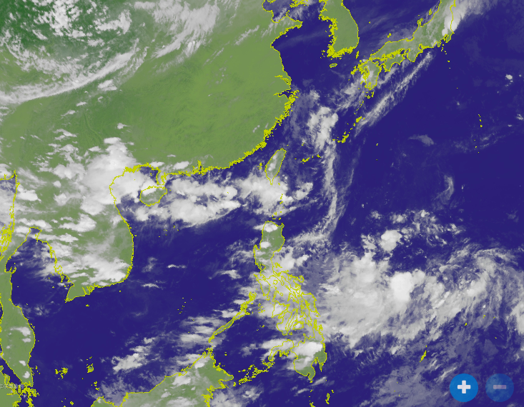 律賓東方海面熱帶性低氣壓今天下午2時形成。圖/取自氣象局