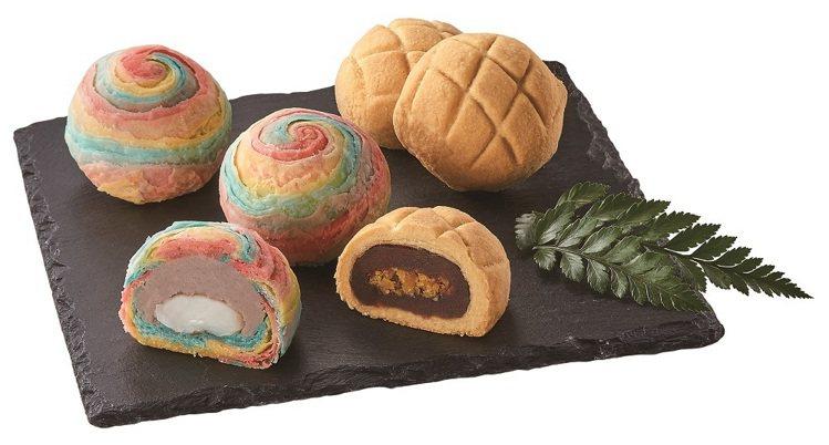 聖娜多堡彩虹菠菠星空禮盒以夢幻的彩虹芋頭酥搭配可愛的菠蘿蛋黃酥,造型搶眼,售價3...