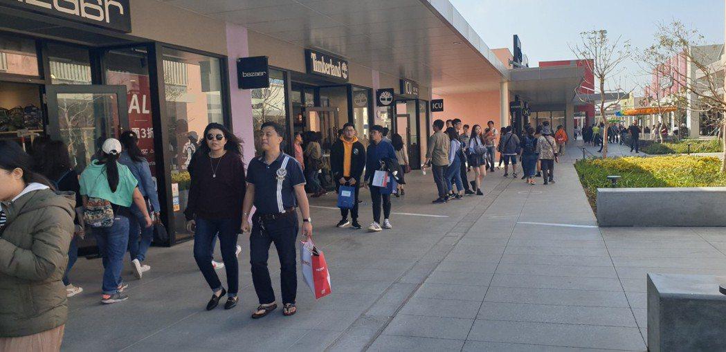 三井台中港outlet購物活動,消費滿2000元可抽獎。本報資料照片