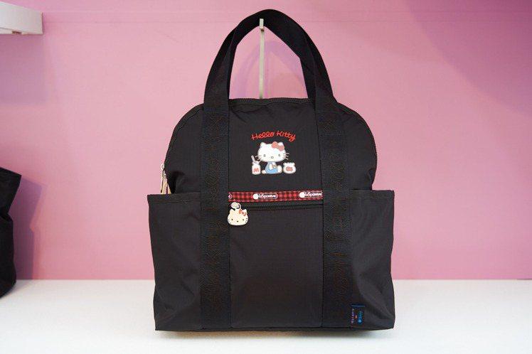 夏于喬最愛的Hello Kitty x LeSportsac聯名系列簡約刺繡兩用...