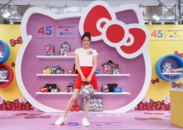 夏于喬出席Hello Kitty x LeSportsac聯名系列期間限定Pop...
