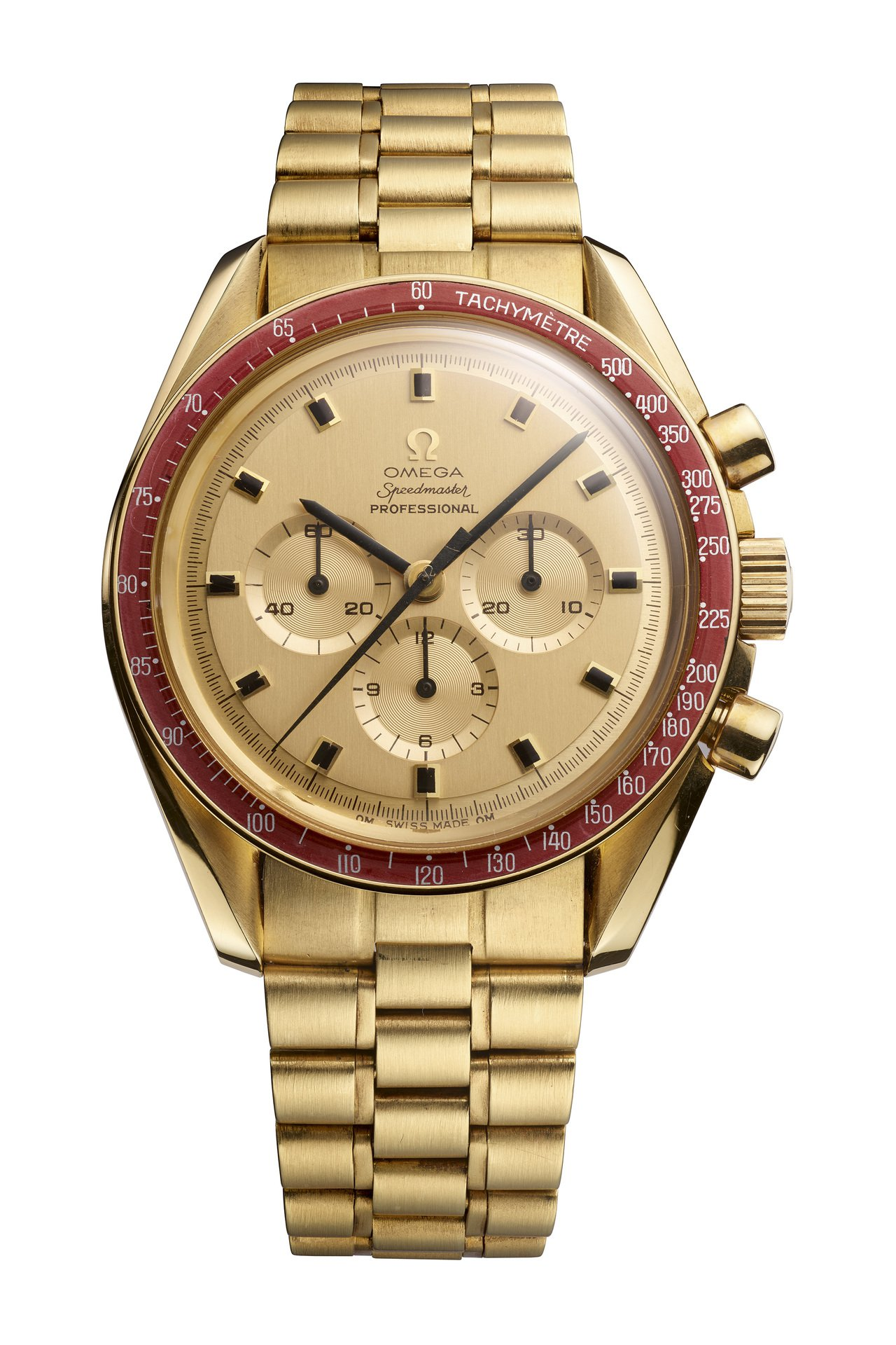 歐米茄超霸阿波羅11號50周年Moonshine™金限量版腕表,18KMoons...