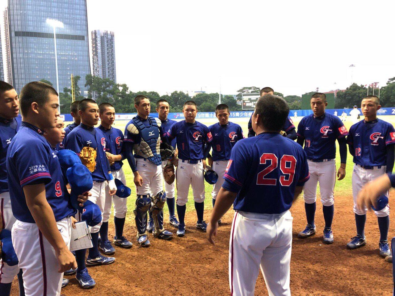 中華隊在U15亞洲青少棒賽第二戰不敵日本,吞下本屆賽事首敗。圖/中華棒協提供