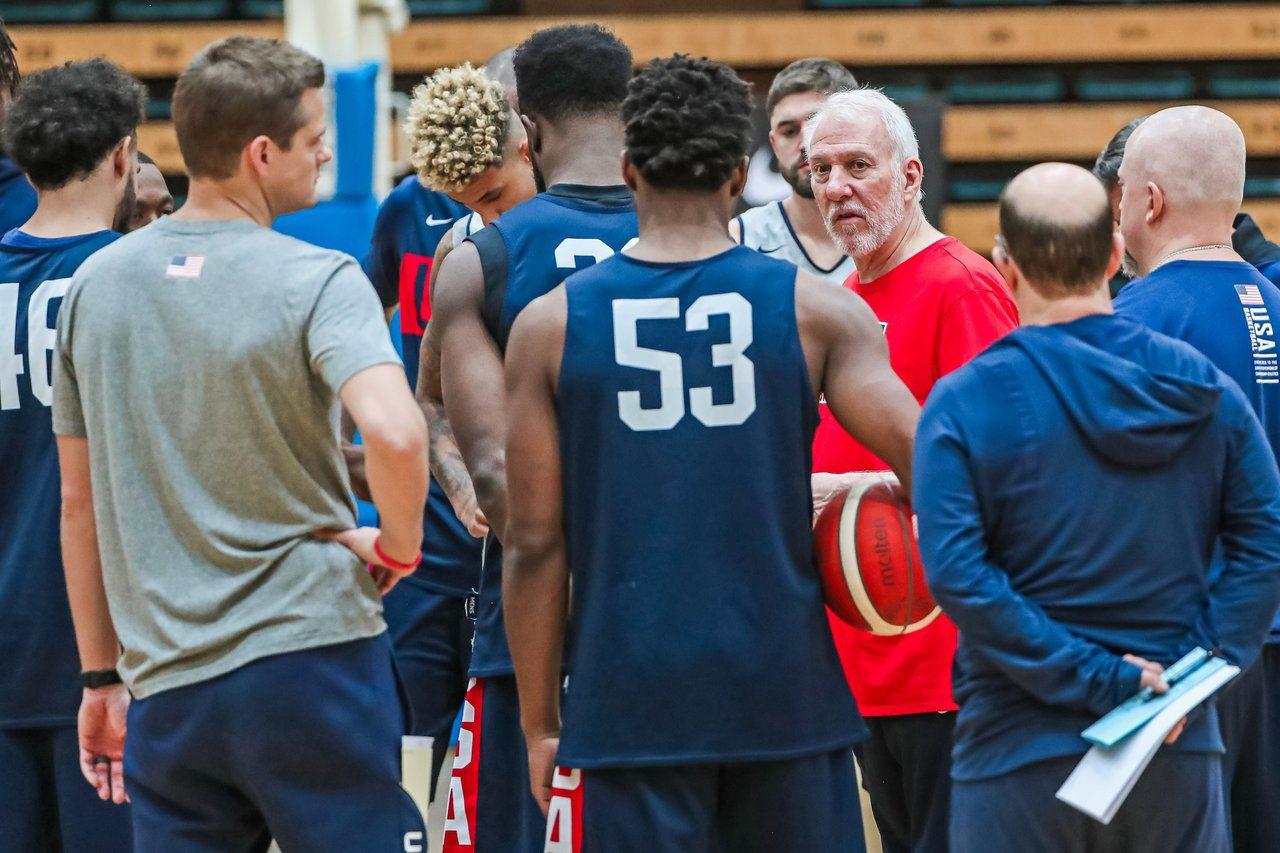 美國隊總教練波波維奇(Gregg Popovich)談到澳洲男籃不敢輕忽。 截圖...