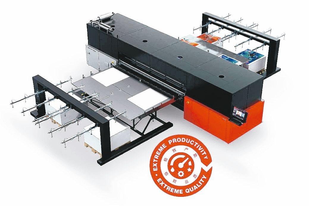 愛克發高階UV噴墨設備Jeti Tauro H3300 LED。 愛克發/提供