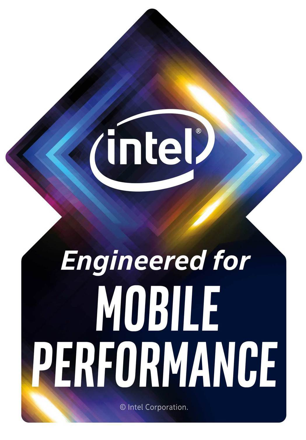 Engineered for Mobile Performance標誌。 英特爾...