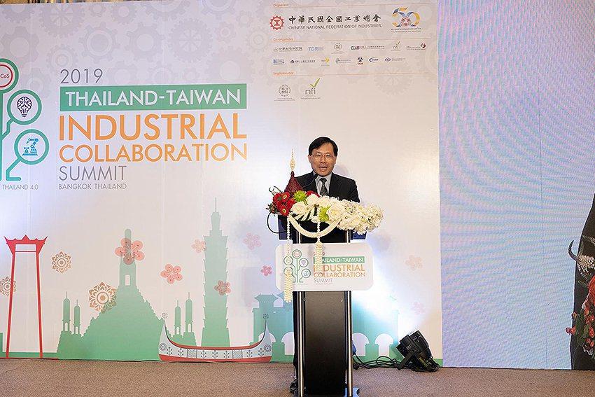 經濟部常務次長林全能進行開幕演說。 VISIONTHAI看見泰國/提供
