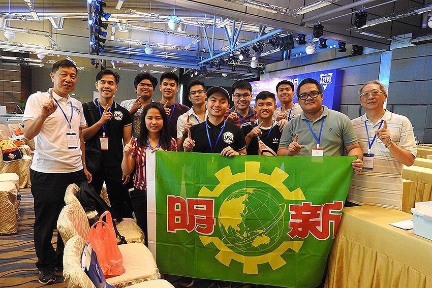 明新科大姐妹校菲律賓亞當森大學師生參加澳門「2019年亞洲機器人競賽」國際邀請賽...