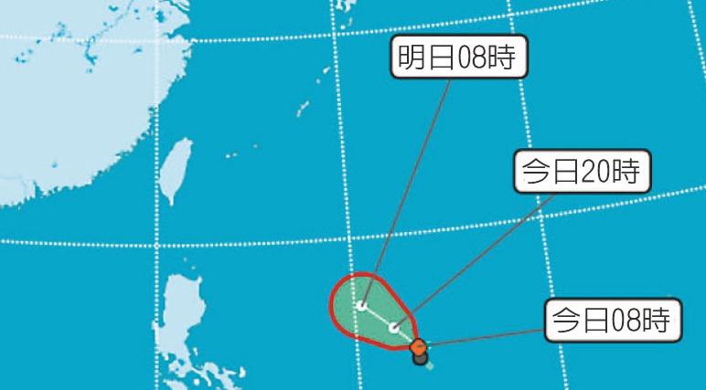 今年第11號颱風白鹿最快今天形成。 圖/取自中央氣象局