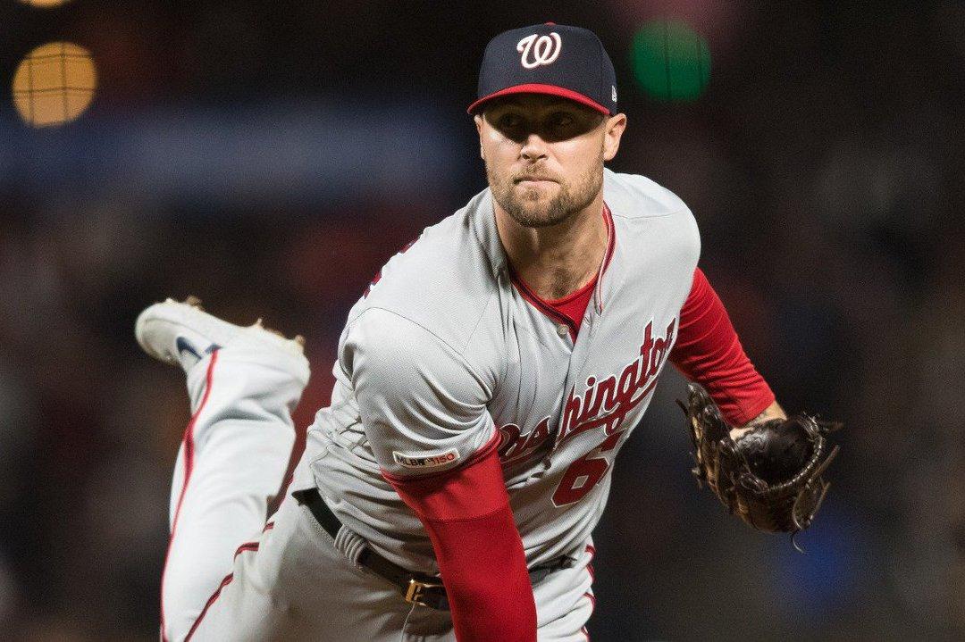 MLB今天再度上演怪奇受傷事件,國民後援投手史崔克蘭重訓時被槓鈴砸傷。 截圖自@...