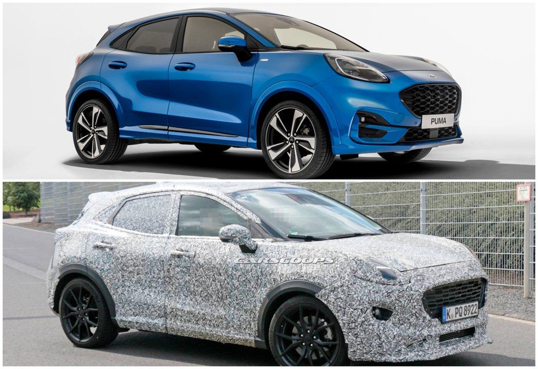 全新Ford Puma與Puma ST偽裝測試車。 摘自Ford、Carscoo...
