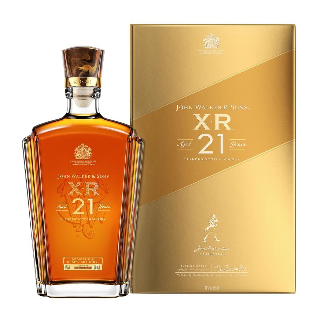XR 21年蘇格蘭威士忌,建議售價:NT$2,900。JOHNNIE WALKE...