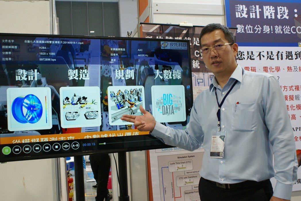 皮托科技軟體系統處處長陳家明說:「製造系統中最貴並不是在設備,是瓶頸。」 吳青常...